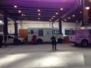 Food trucks at Harris Theater for