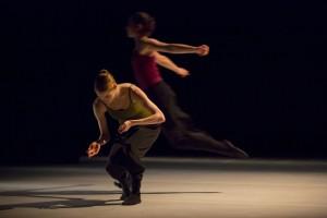 Hubbard Street 2 dancers Emilie Leriche and Felicia McBride.