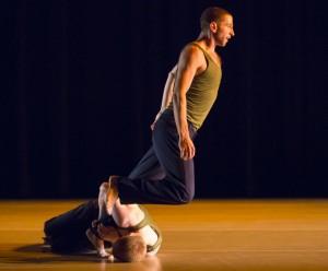 Hubbard St dancers Jonny McMillian and Jesse Bechard.